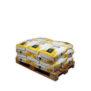 Pallet kussenvormige zouttabletten 20 zakken 25 kg